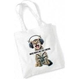 Music Makes Me Lose Control Long Handled Tote Bag
