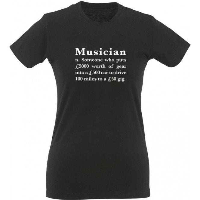 Musician Definition Womens Slim Fit T-Shirt