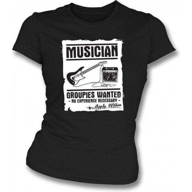 Musician (Guitar) - Groupies Wanted Girls' Slim-Fit T-shirt