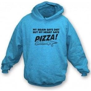 My Heart Says Pizza! Hooded Sweatshirt