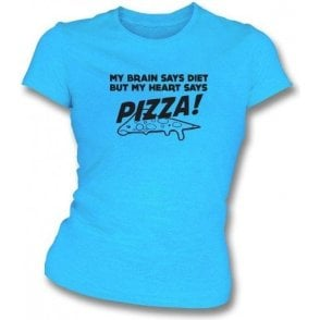 My Heart Says Pizza! Womens Slim Fit T-Shirt