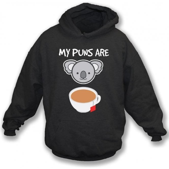 My Puns Are Koala Tea Kids Hooded Sweatshirt