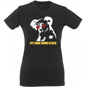 Natural Born Koala Womens Slim Fit T-Shirt