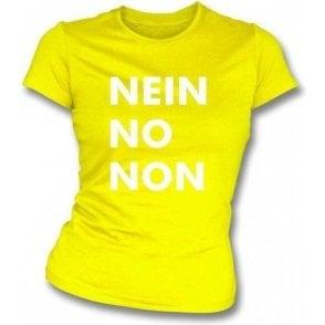 Nein No Non (As Worn By Thom Yorke, Radiohead) Womens Slim Fit T-Shirt