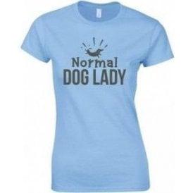 Normal Dog Lady Womens Slim Fit T-Shirt