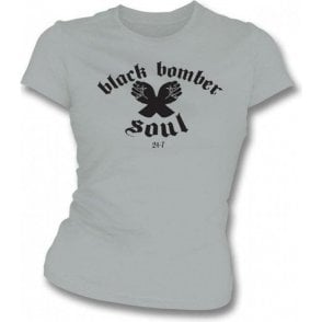 Northern Soul - Black Bomber girls slimfit T-shirt