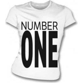 Number One (As Worn By George Michael & Andrew Ridgeley, Wham!) Womens Slim Fit T-Shirt