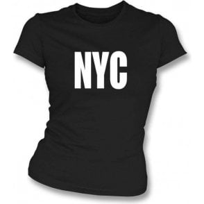 NYC as worn by Joey Ramone (The Ramones) Girl's Slim-Fit T-shirt