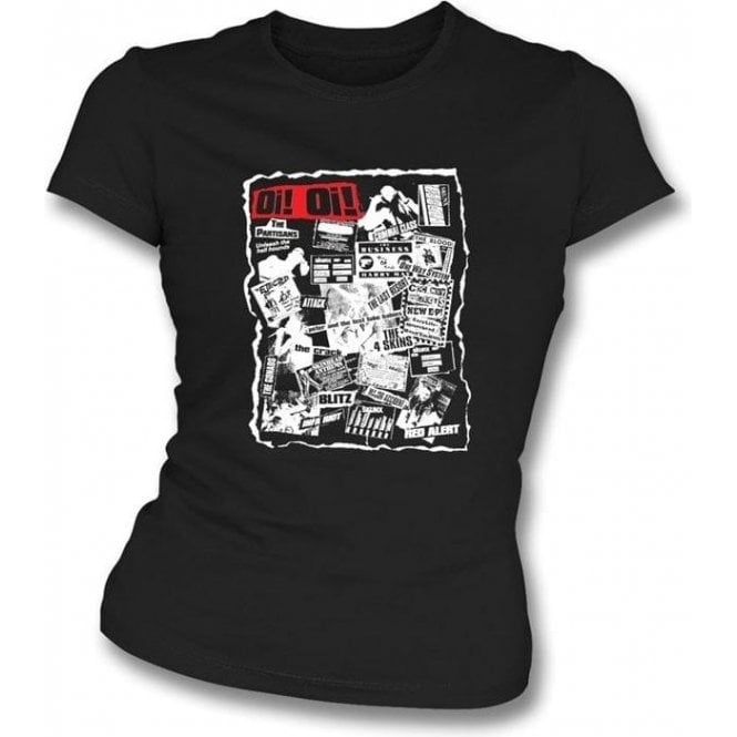 Oi Oi Punk/Skinhead 80's Collage Girl's Slim-Fit