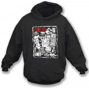 Oi Oi Punk/Skinhead 80's Collage Hooded Sweatshirt