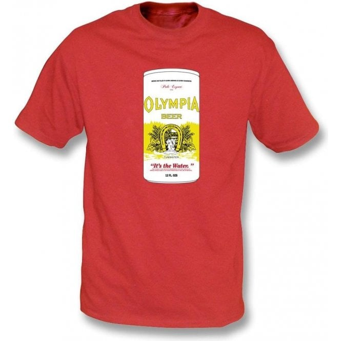 Olympia Beer (As Worn By Kurt Cobain, Nirvana) Mens T-Shirt