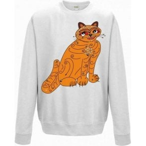 Orange Cat (As Worn By Anni-Frid Lyngstad, ABBA) Kids Sweatshirt