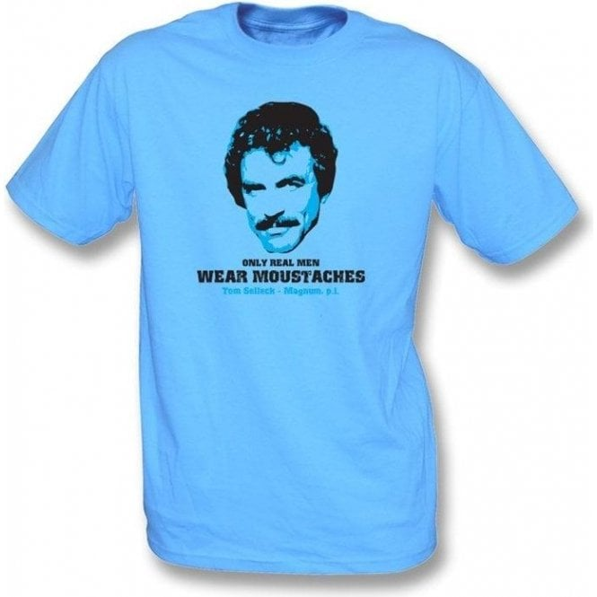 Organic Only Real Men Wear Moustaches T-shirt