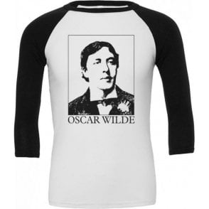 Oscar Wilde (As Worn By Morrissey) 3/4 Sleeve Unisex Baseball Top