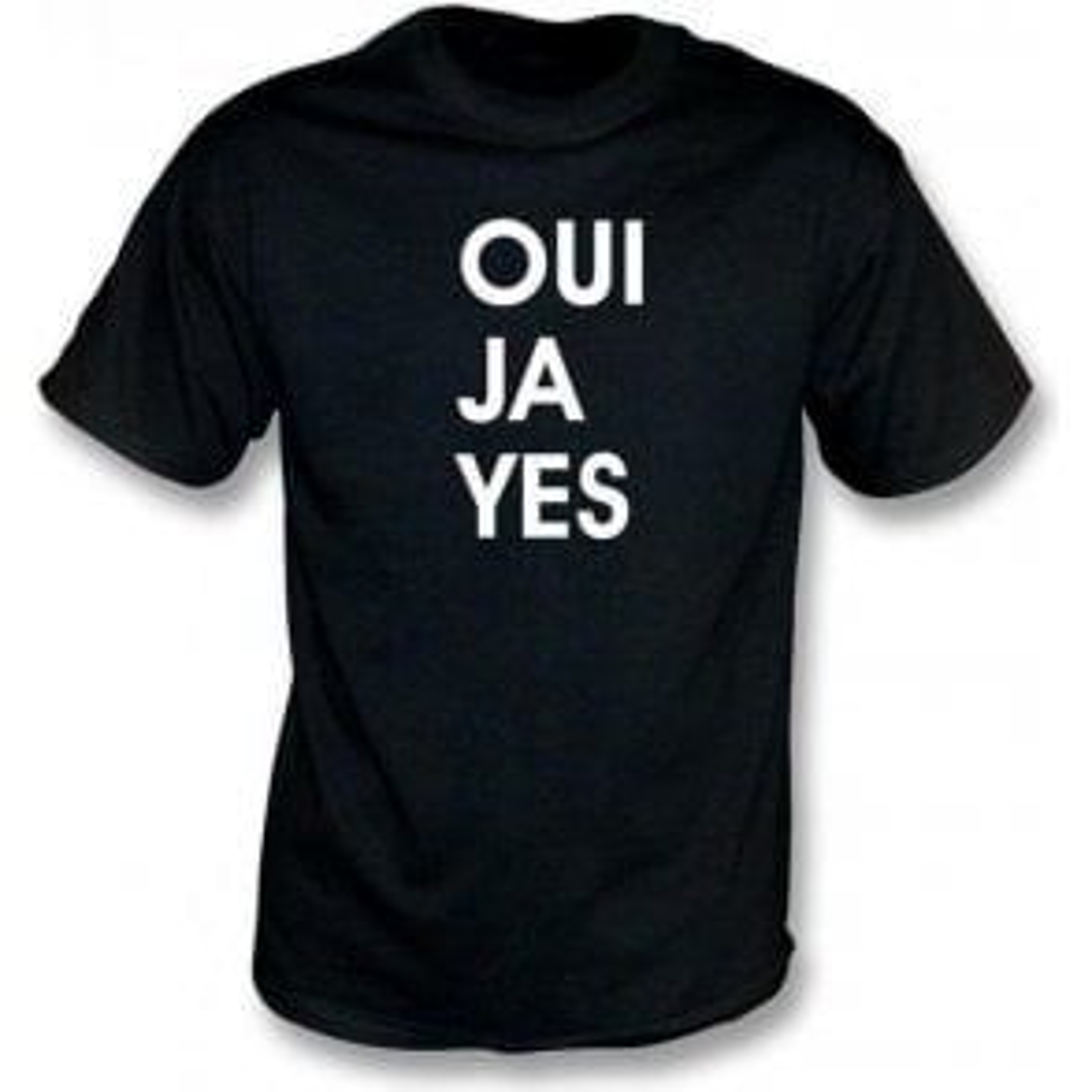 Oui Ja Yes (As Worn By Thom Yorke, Radiohead) T-Shirt