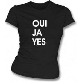 Oui Ja Yes (As Worn By Thom Yorke, Radiohead) Womens Slim Fit T-Shirt