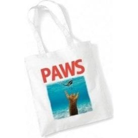PAWS (JAWS Parody) Long Handled Tote Bag