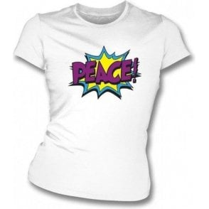 Peace Womens Slimfit T-shirt