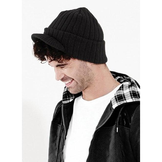 Peaked Beanie Hat