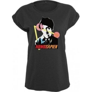 Pete Shelley - Homosapien (Buzzcocks) Womens Extended Shoulder T-Shirt