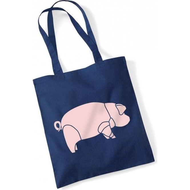 Pig (As Worn By David Gilmour, Pink Floyd) Long Handled Tote Bag
