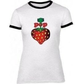 Pop Strawberry (As Worn By Steve Jones, Sex Pistols) Womens Slim Fit T-Shirt