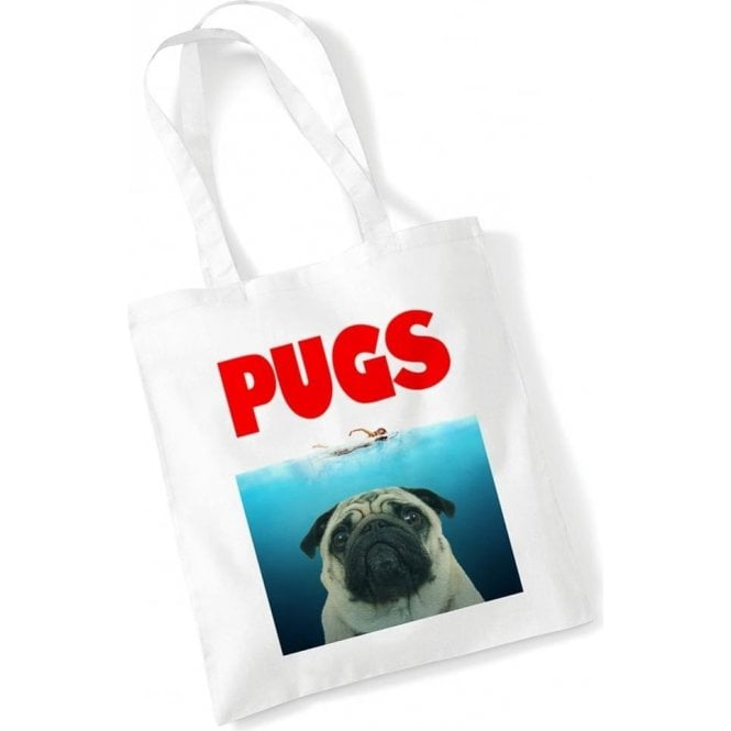PUGS (JAWS Parody) Long Handled Tote Bag