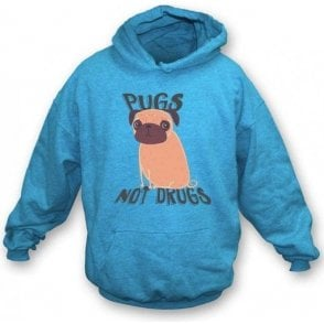 Pugs Not Drugs Hooded Sweatshirt