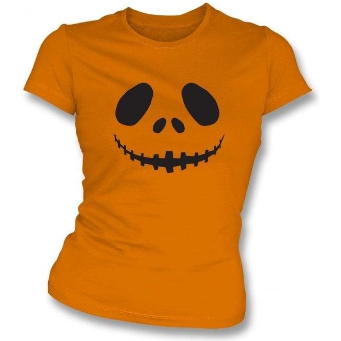 Pumpkin Face Womens Slim Fit T-Shirt
