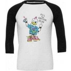 Punk Rock Duck (As Worn By Kurt Cobain, Nirvana) 3/4 Sleeve Unisex Baseball Top