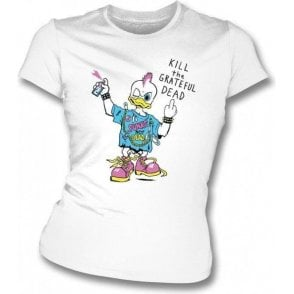 Punk Rock Duck T-shirt as worn by Kurt Cobain (Nirvana) Women's Slimfit T-shirt