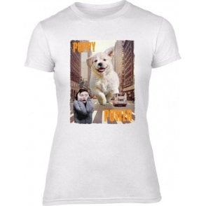 Puppy Power Womens Slim Fit T-Shirt