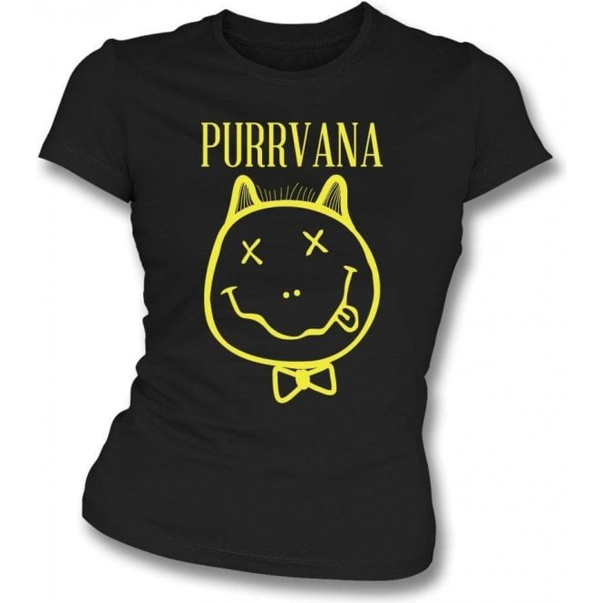 Purrvana Womens Slim Fit T-Shirt