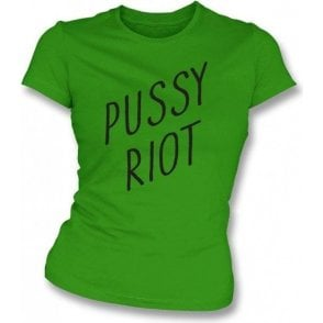 Pussy Riot (As Worn by Anthony Kiedis of Red Hot Chili Peppers) Womens Slim Fit T-Shirt