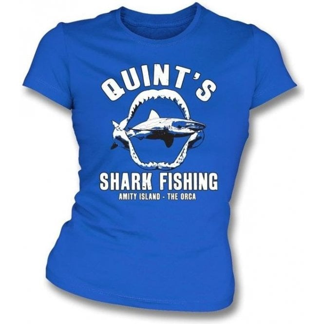 Quint's Shark Fishing (Inspired by JAWS) Womens Slim Fit T-Shirt