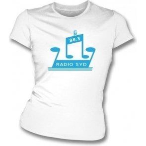 Radio Syd 88.3 (As Worn By Brian Jones, The Rolling Stones) Womens Slim Fit T-Shirt