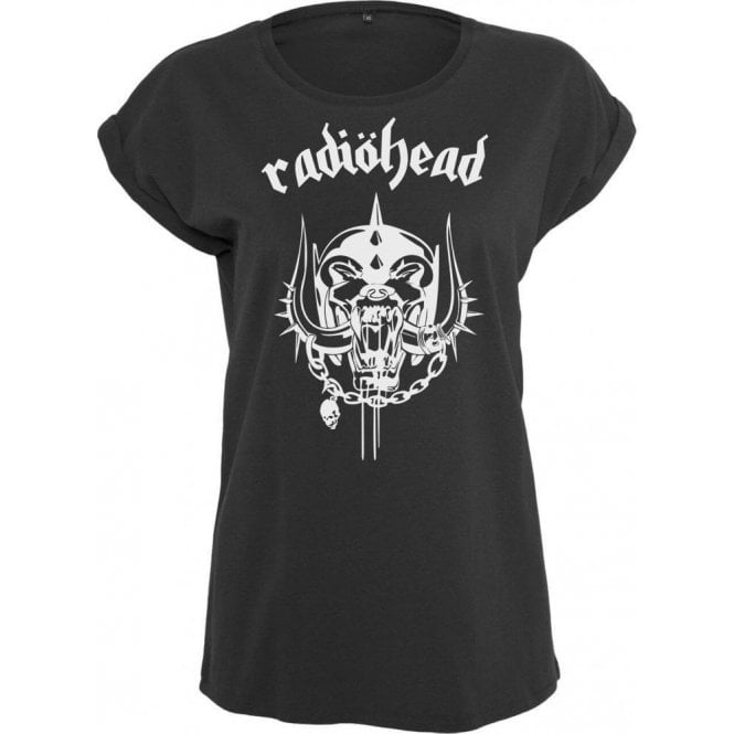 Radiohead (Inspired by Motorhead) Logo Womens Extended Shoulder T-Shirt