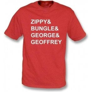 Rainbow Zippy & Bungle & George & Geoffrey T-shirt
