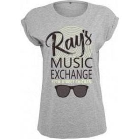 Ray's Music Exchange (Inspired by The Blues Brothers) Womens Extended Shoulder T-Shirt