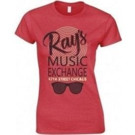 Ray's Music Exchange (Inspired by The Blues Brothers) Womens Slim Fit T-Shirt
