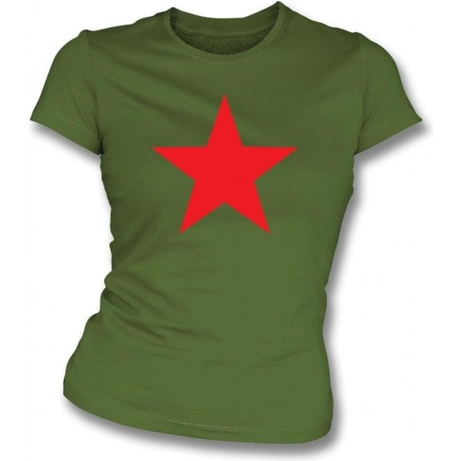 Red Star (as worn by Michael Stipe of R.E.M.) Girl's Slim-Fit T-shirt