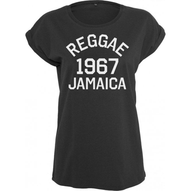 Reggae 1967 Jamaica Womens Extended Shoulder T-Shirt