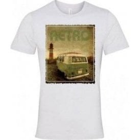 Retro Camper Semi-Fitted T-Shirt
