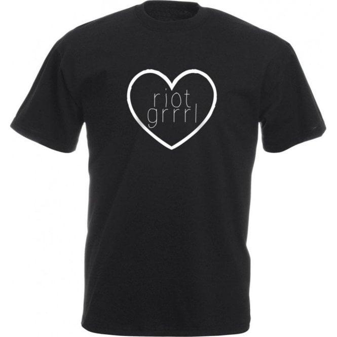 Riot Grrrl Heart Kids T-Shirt