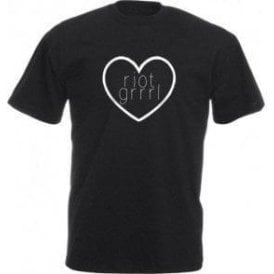 Riot Grrrl Heart Kids T-Shirt