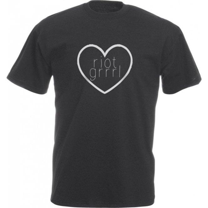 Riot Grrrl Heart Vintage Wash T-Shirt