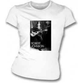 Robert Johnson Blues Legend Girl's Slim-Fit T-Shirt