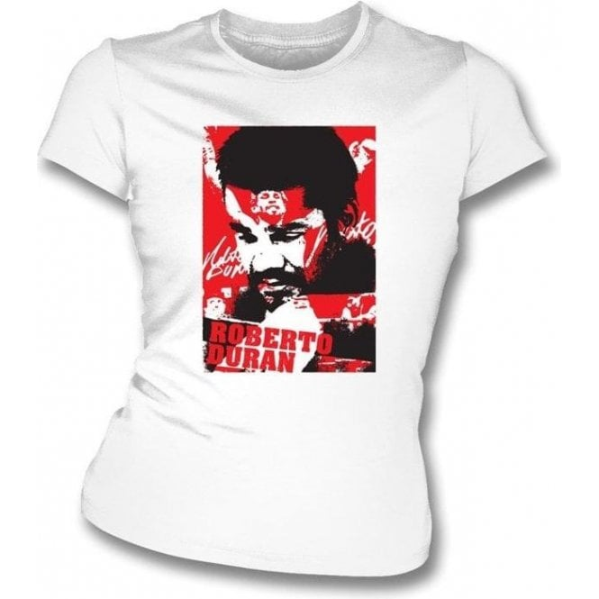 Roberto Duran Champion Collage (Boxing) Womens Slimfit T-shirt
