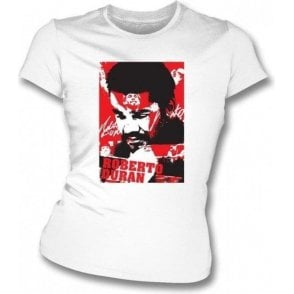 Roberto Duran Champion Collage (Boxing) Womens Slimfit T-shirt