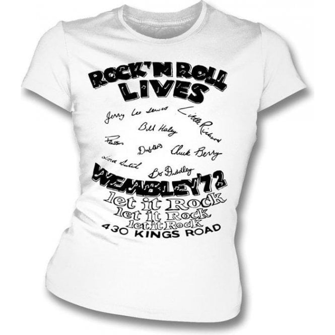 Rock 'n Roll Lives (Seditionaries) Girl's Slim-Fit T-shirt